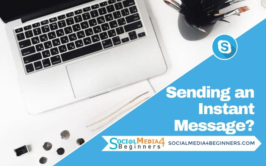 How to send an instant message through skype