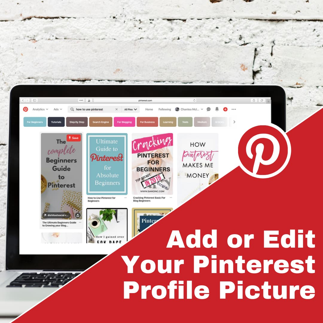 Adding or changing your Pinterest Profile Picture