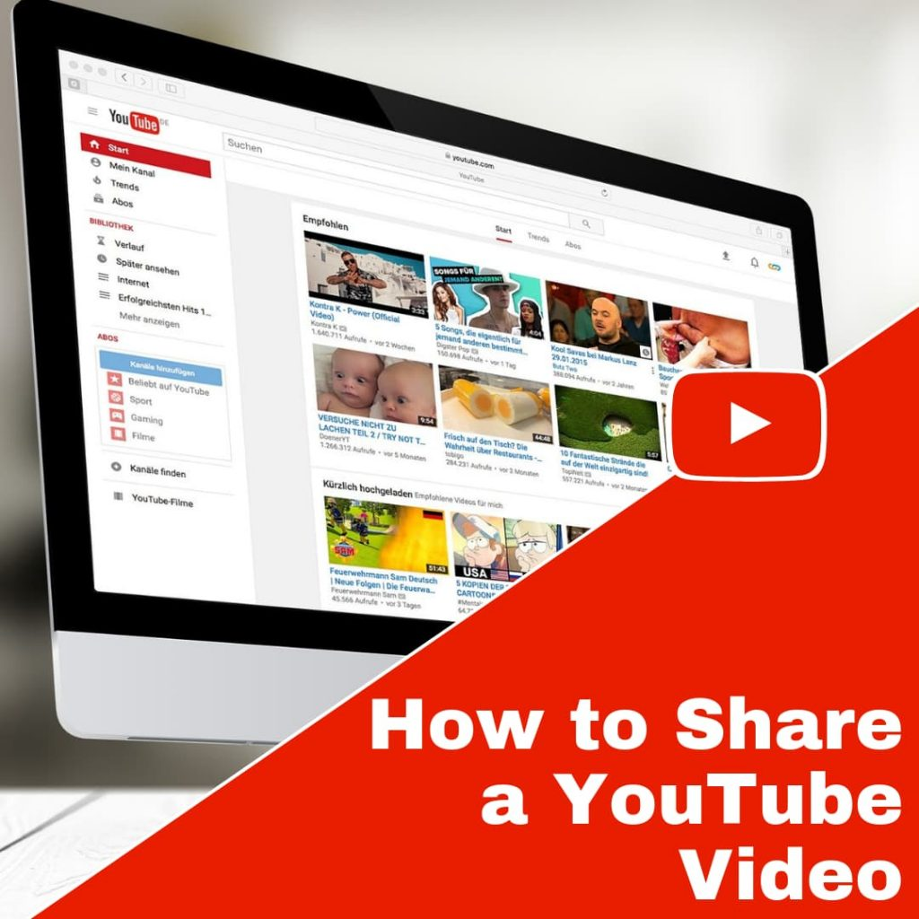 How to Share YouTube Videos with Others