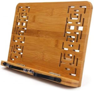 Bamboo Book and Tablet Holder