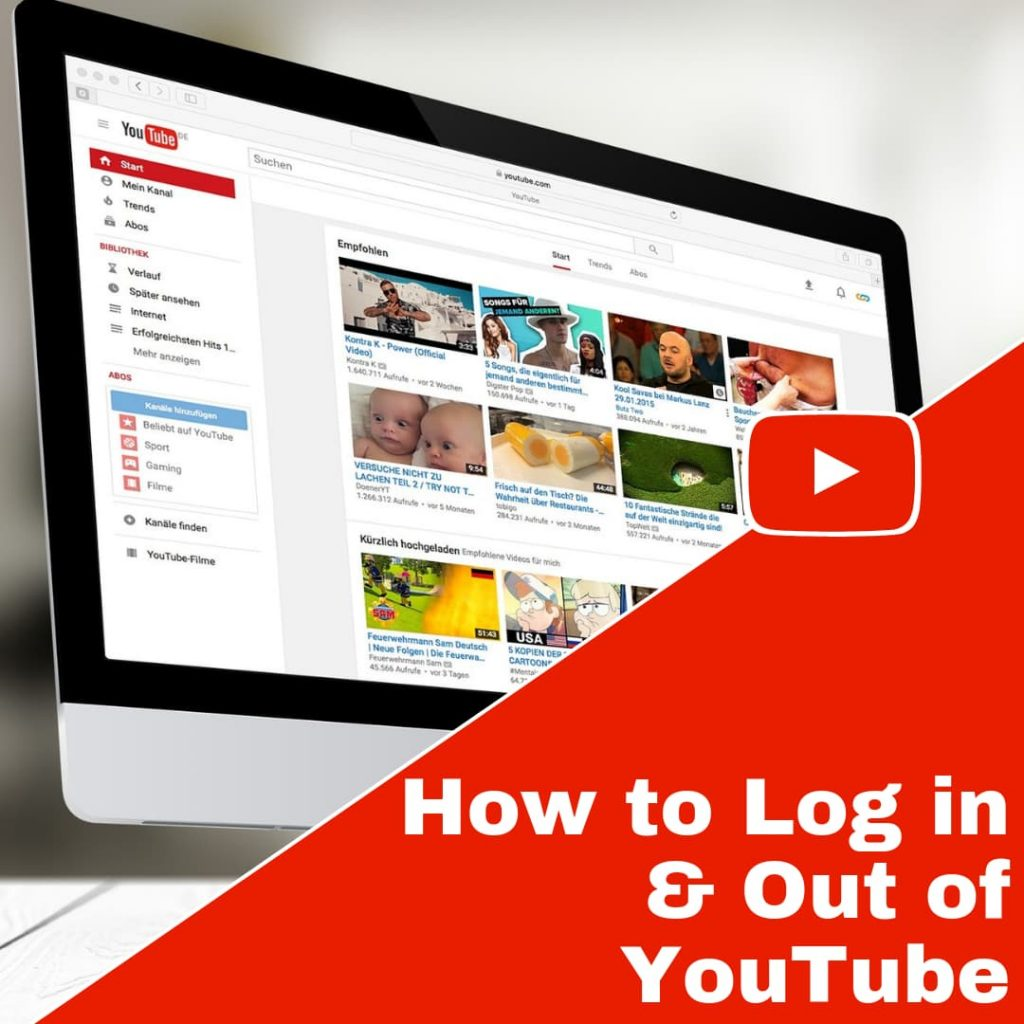 How to Log in and out of YouTube