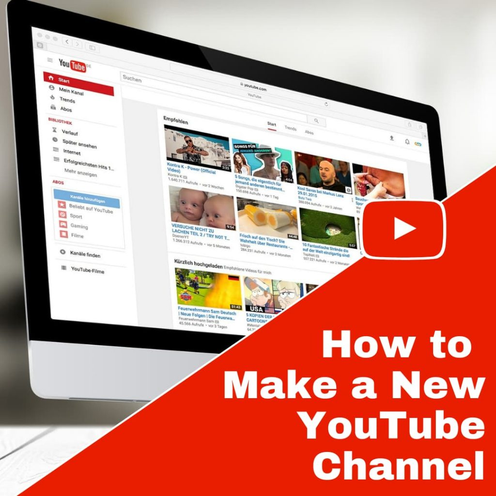 Creating your YouTube Channel