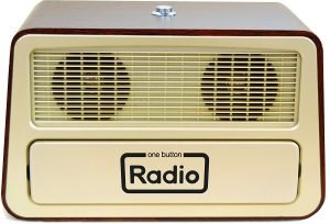 One Button radio for elderly