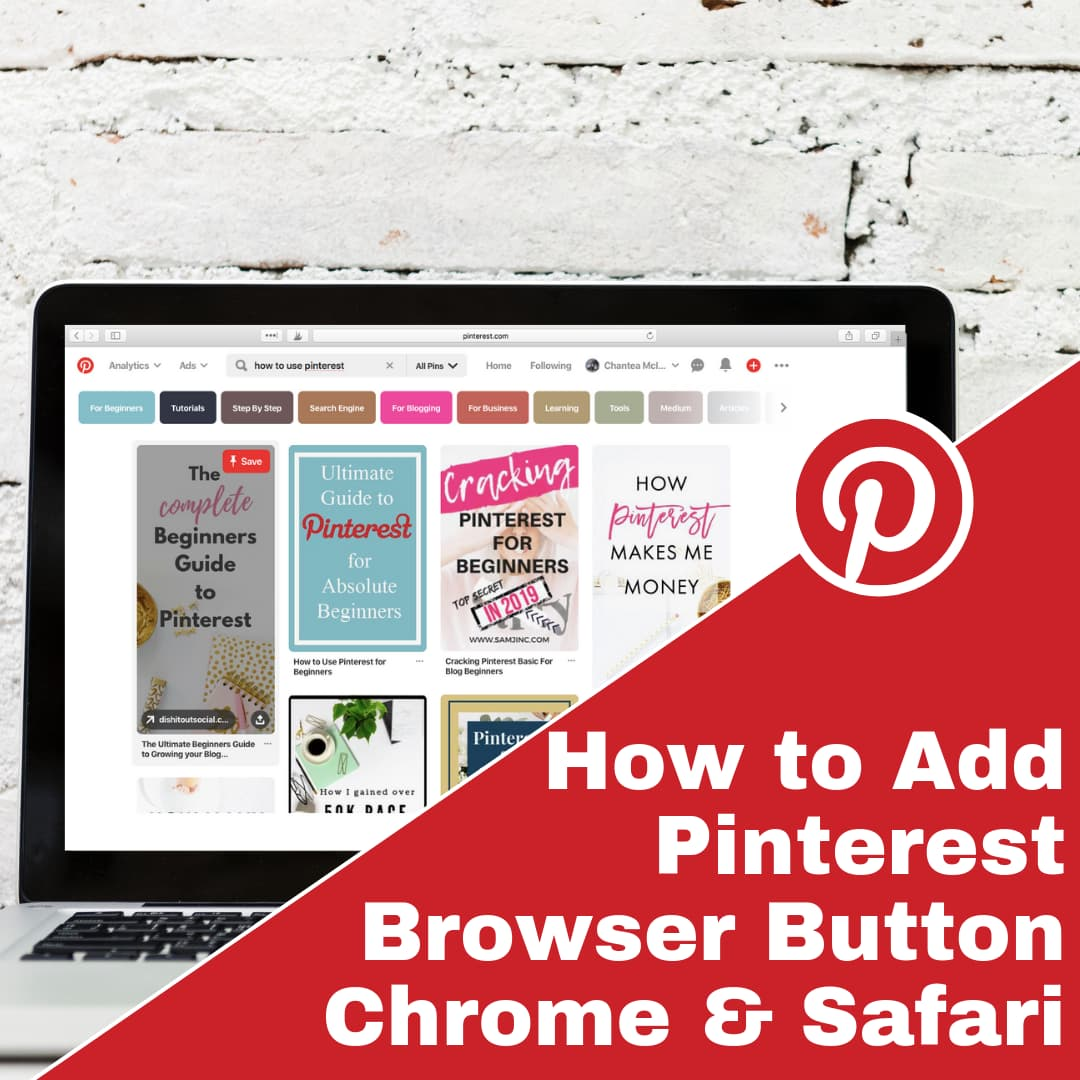 How to Add Pinterest Browser Button on Google Chrome