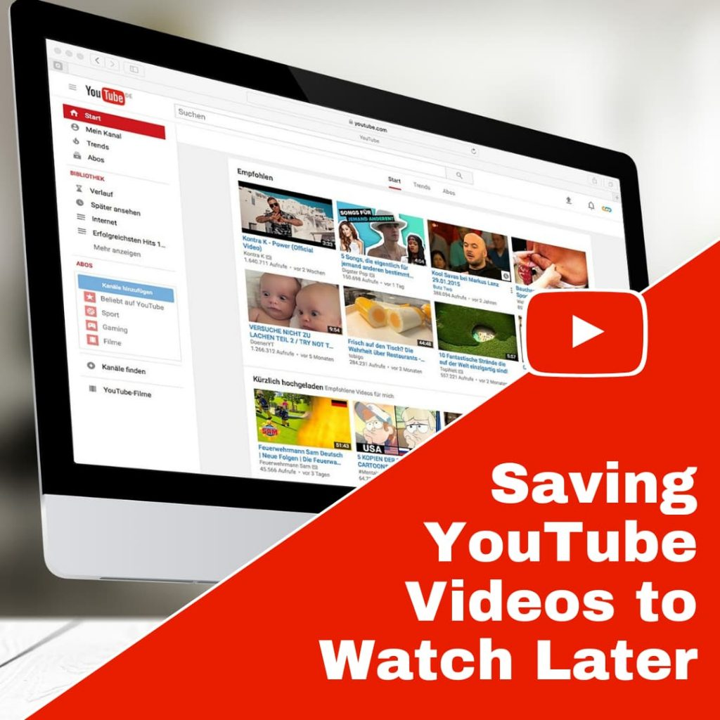 Save Videos so you can Watch Them Later