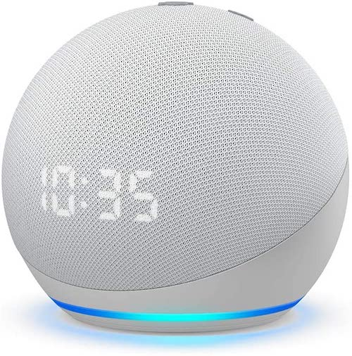 Echo dot with clock speaker with Alexa